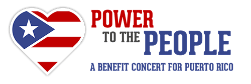Logo for the Power to the People benefit concert.