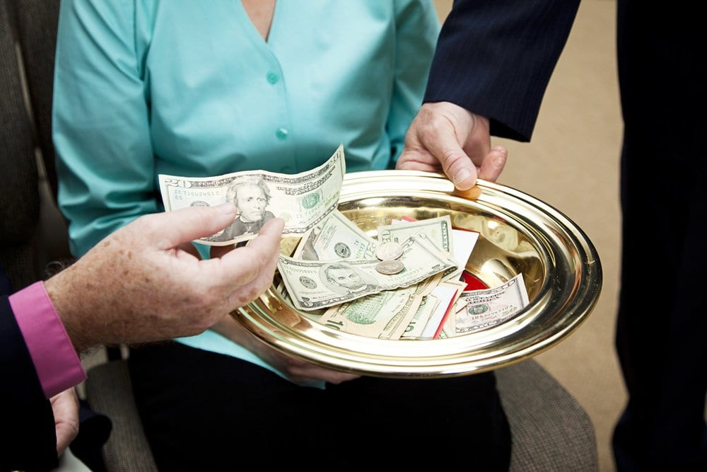 $30,000 in a Church Collection Plate